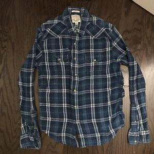 Lucky Brand blue colored casual button up shirt
